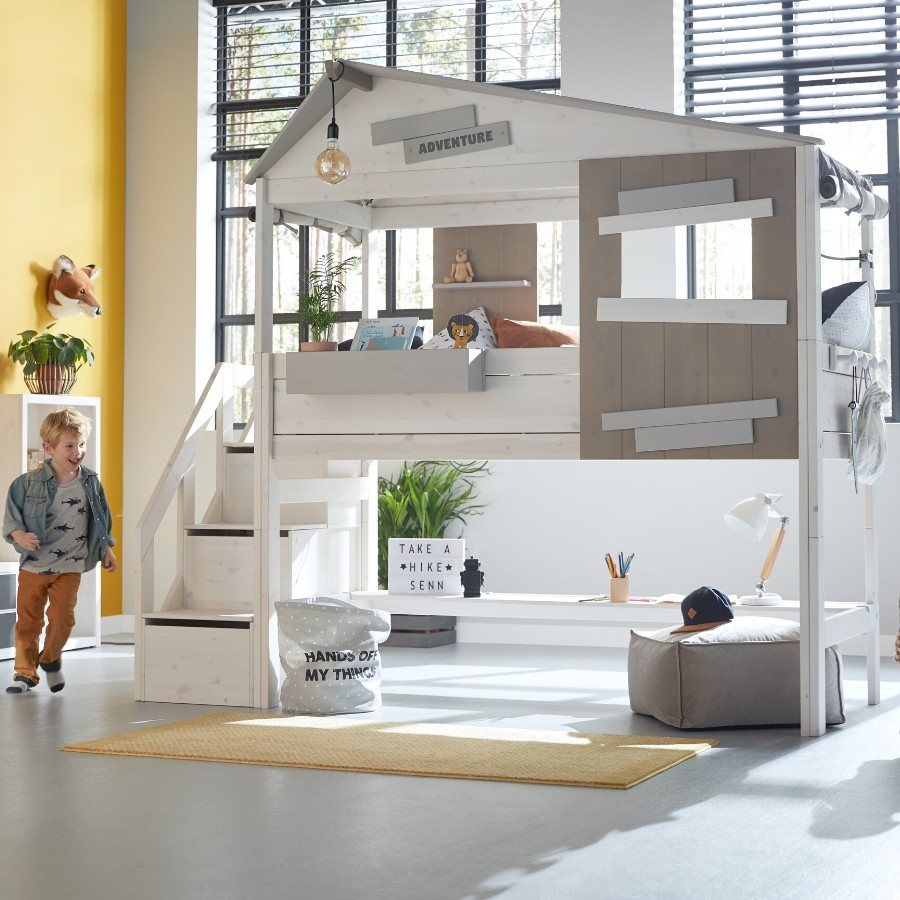 Lifetime Kidsrooms - Hideout Kids Loft Bed With Storage Ladder 4